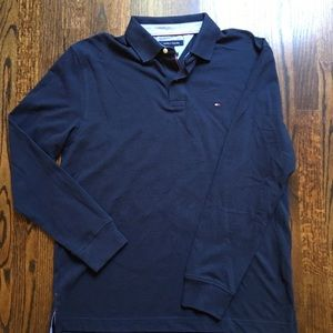 Tommy Hilfiger Long-sleeved Polo Navy Sz L NWOT